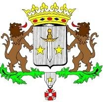 Logo de la ville Calonne-Ricouart représentant les armoiries de la ville. Deux lions prennent appuie sur le balson de la ville qui comporte deux étoiles et une épée. Le tout est courronné.