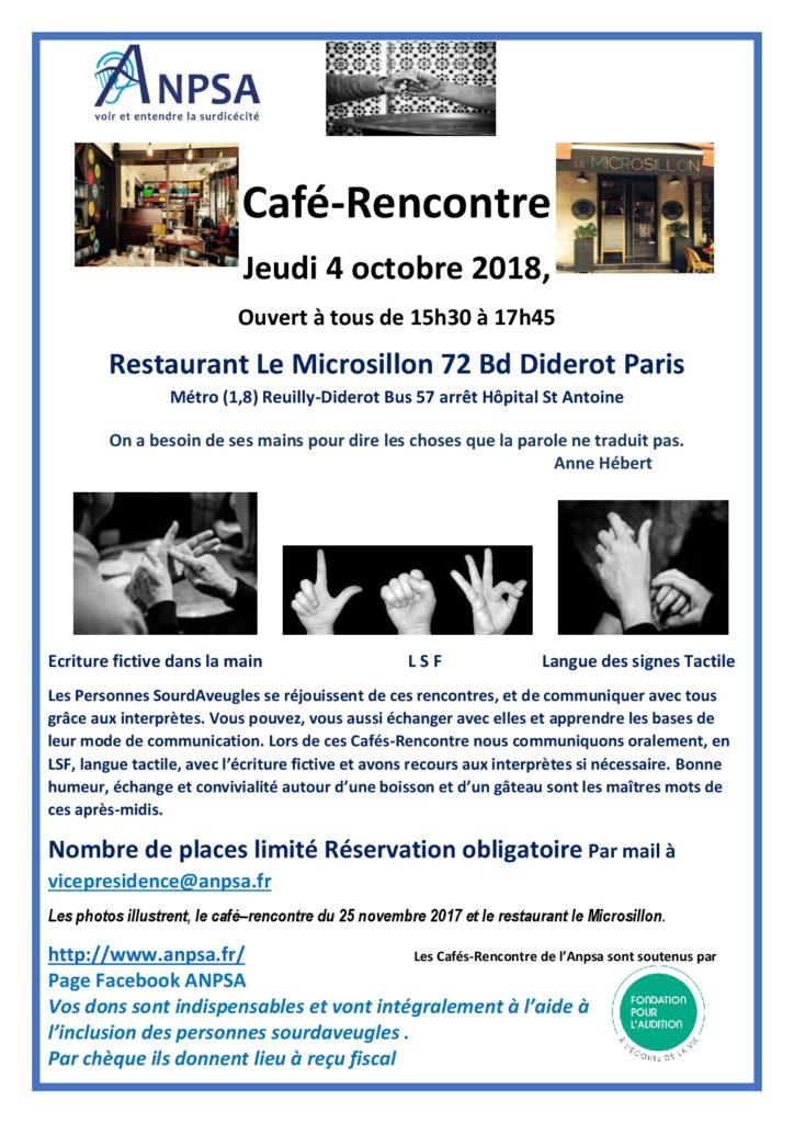 Affiche Café Rencontre 04 10 2018